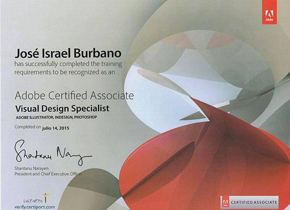 Diploma certificación adobe visual design specialist