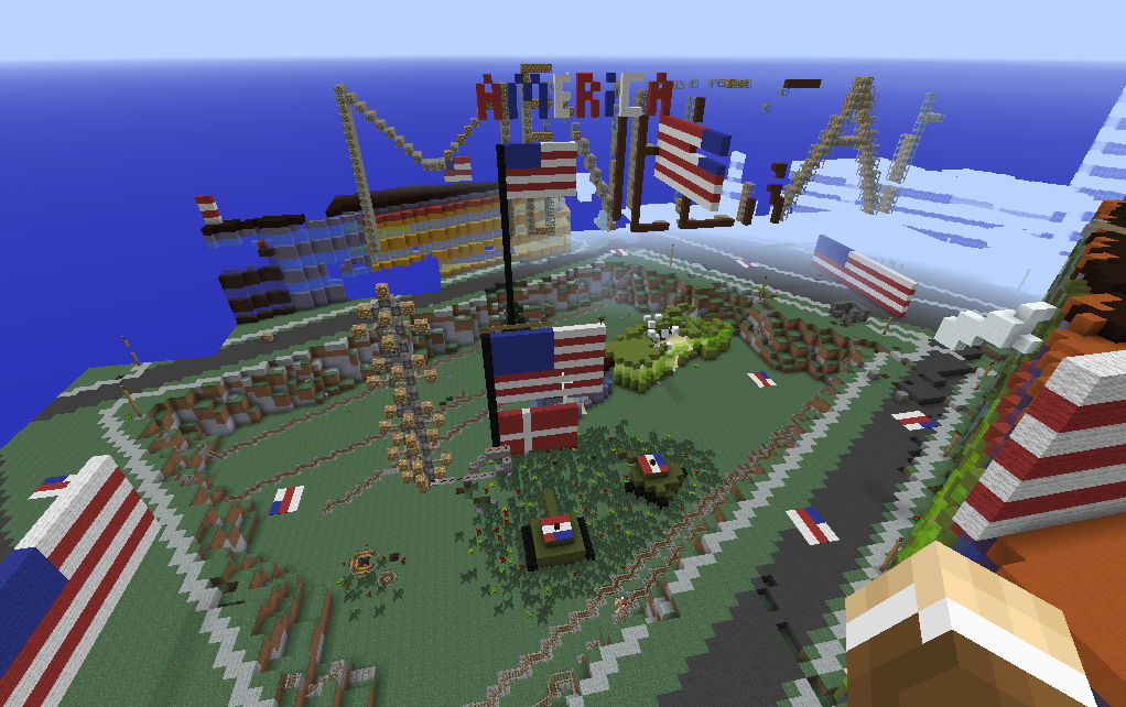 "Lección de Minecraft Education Edition ""Flags around the world"""