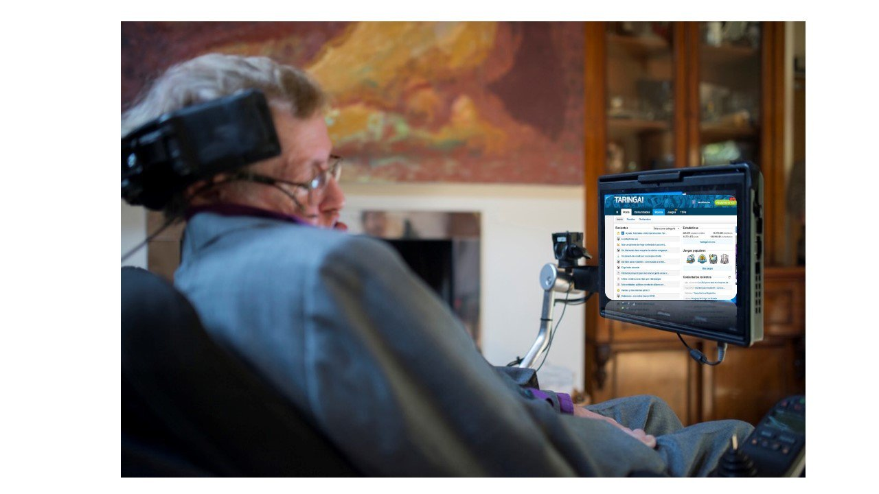Stephen Hawking frente al ACAT (Assistive Context – Aware Toolkit)