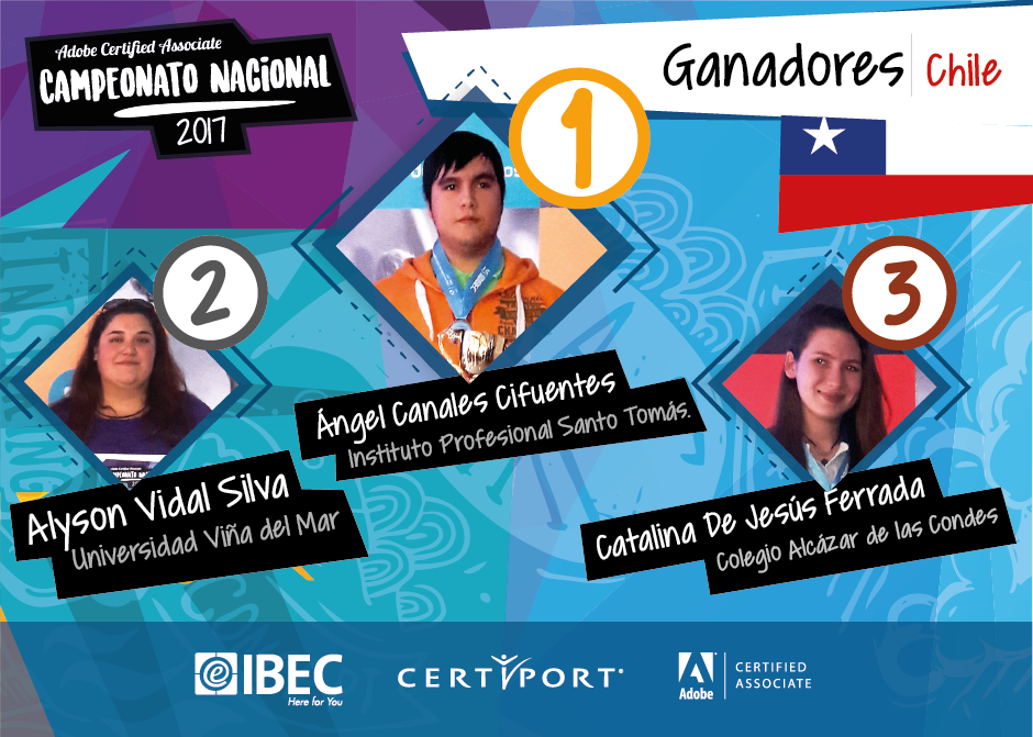 Representantes Chile Adobe Certified World Championship 2017
