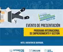 Evento de presentación: Programa Internacional - Entrepreneurship and small business (ESB)